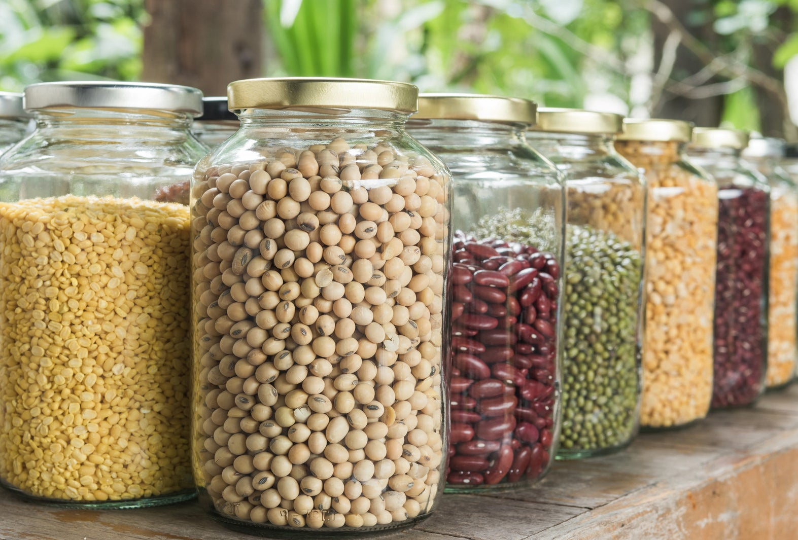 You can use dry beans and grains without soaking or cooking them first.