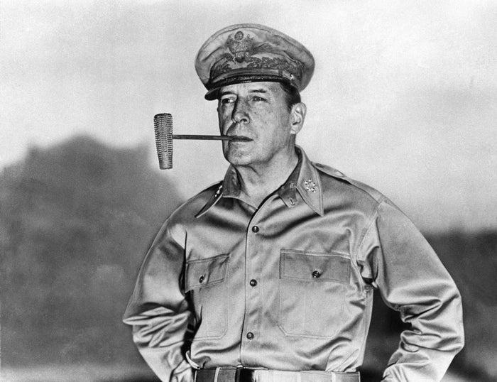 General Douglas MacArthur in Manila in 1945.