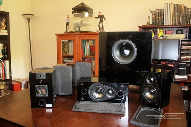 Surround sound in their house.