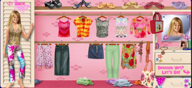 The Lizzie McGuire Dress Up game