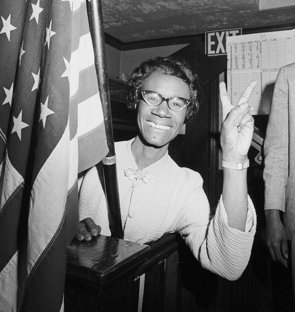 Shirley Chisholm — the first black woman elected to the United States House of Representatives.