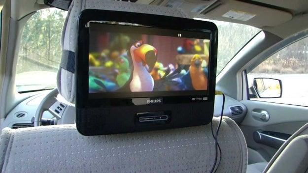 A DVD player in their car.