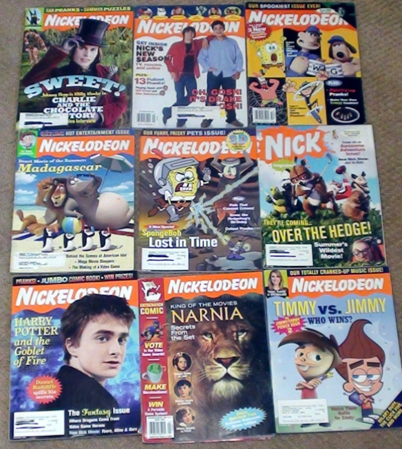 A subscription to Nickelodeon magazine.