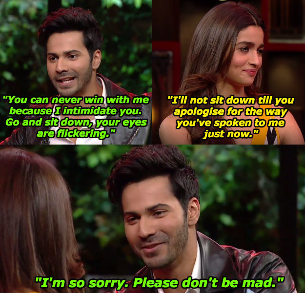 When Alia Bhatt made Varun instantly regret his douchey behaviour.