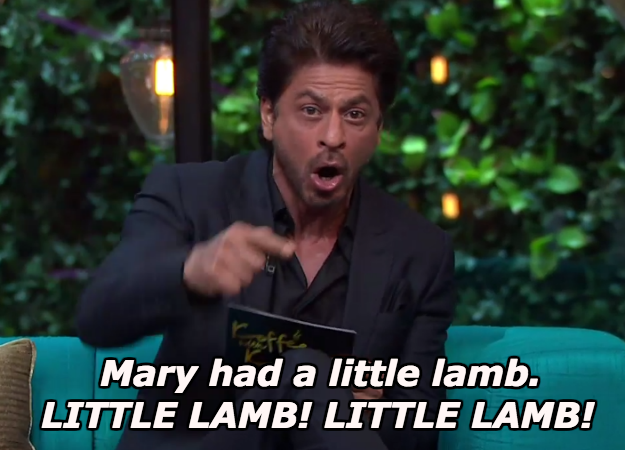 When Shah Rukh Khan made everyone chuckle at his impression of Arnab Goswami reading a nursery rhyme