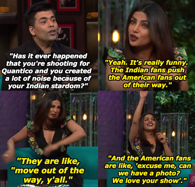 When Priyanka Chopra spoke of her Indian fans having zero chill.