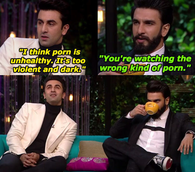 When Ranveer Singh wanted Ranbir Kapoor to have an evolved understanding of porn.