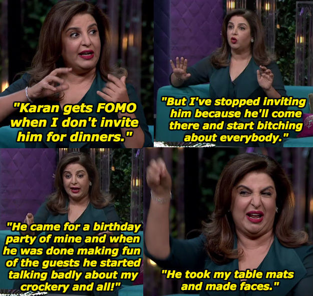 When Farah Khan had some qualms with Karan.