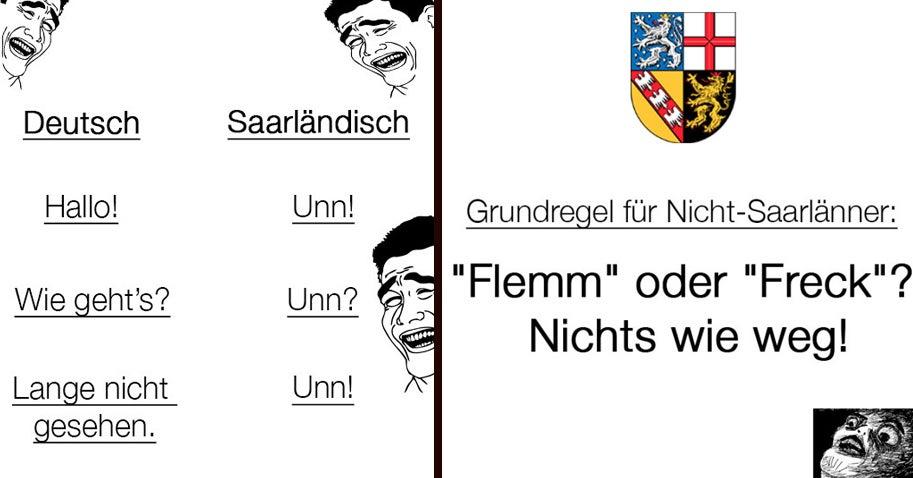 50 Beweise, dass Saarländisch der schrägste Dialekt Deutschlands ist