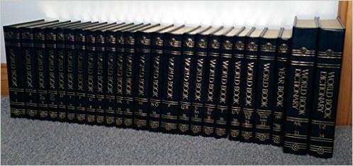 An entire set of encyclopedias.