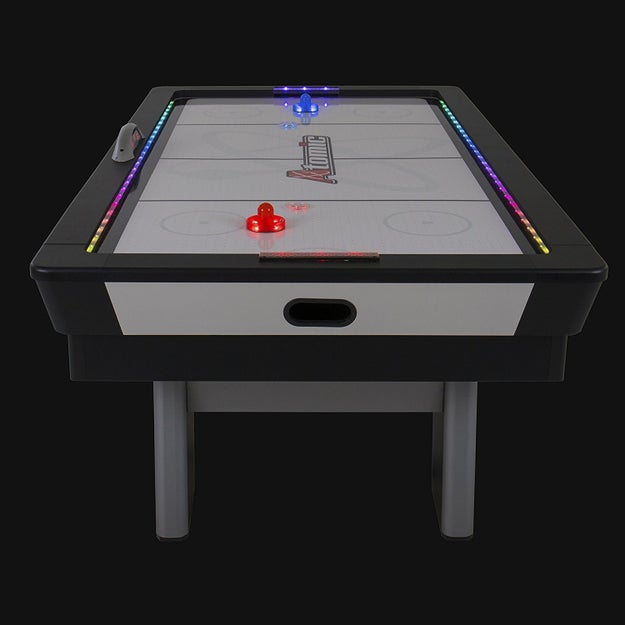 A WORKING air hockey table.