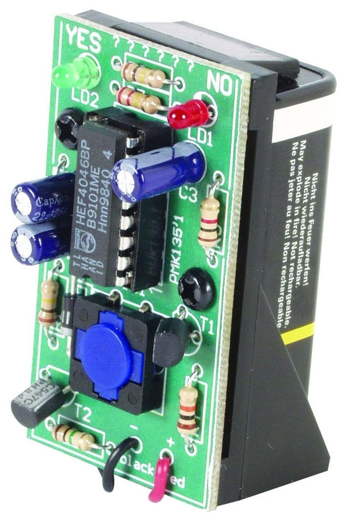 Follow the simple instructions to create a one-stop answering machine. Once it's complete, ask your question, and then push the button to start the yes and no LED flashing lights. The flashing speed gradually decreases until finally one LED remains lit, green for yes or red for no.Get it on Amazon for $11.
