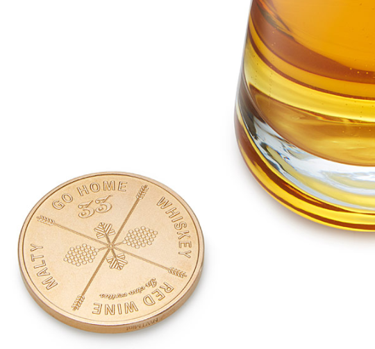 Or, if you're not a beer drinker, this coin that helps you decide what drink to have next, (or if maybe you should call it quits).