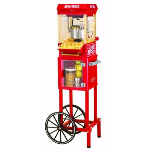 A popcorn machine.