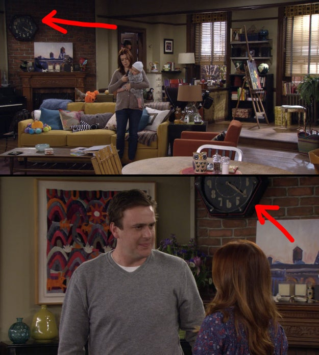 The clock in Lily and Marshall's apartment always reads 4:20.