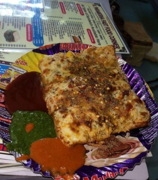 Paneer sher sangam sandwich at H. Parmesha Fast Food Corner, Fort.