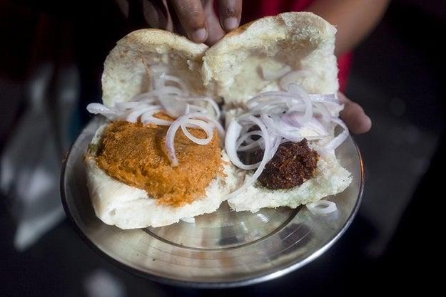 Chicken vada pav and Beef kabab at Baba Shawarma and Kabab Corner, Mahim.