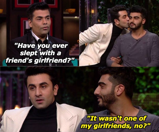 When he wanted Ranbir to pull the knife out of his back, in case Ranbir had put one there.