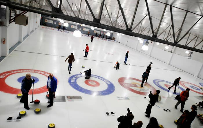 """Together Project director Anna Hill said curling was a great way to get the newcomers more familiar with Canada.""""Curling is a fantastic, very Canadian winter sport, and we thought that they might be interested in learning about winter sports in Canada since we have quite a long winter here,"""" she told Reuters."""