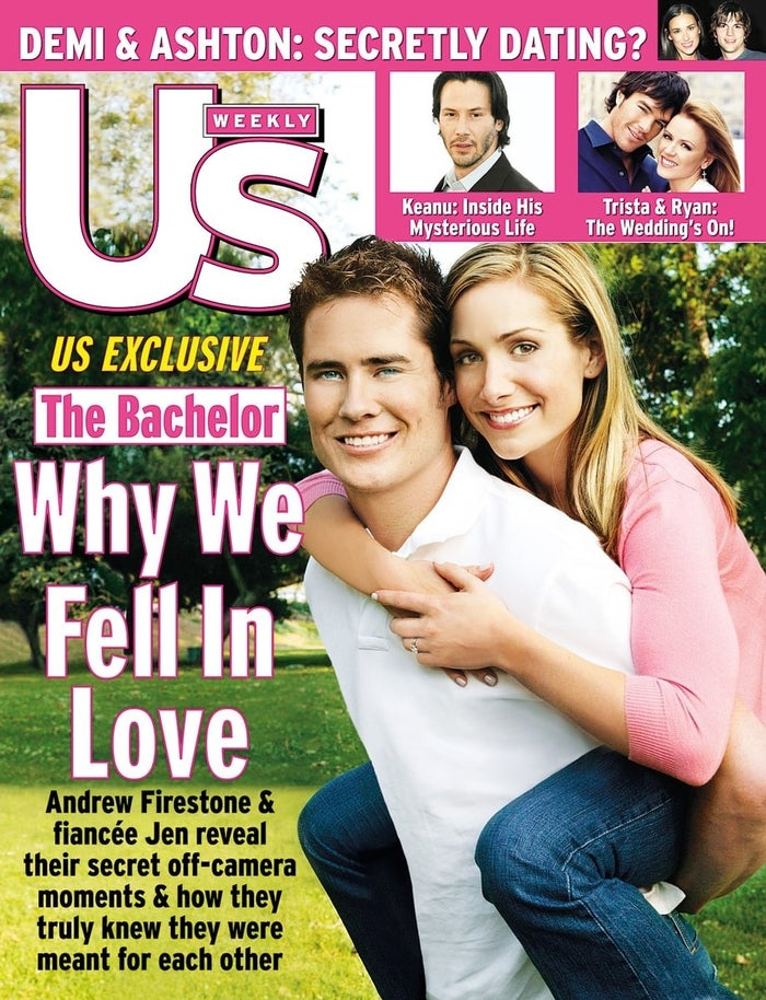 In 2003, Andrew Firestone and Jen Schefft became the first Bachelor magazine cover in history (you're welcome).