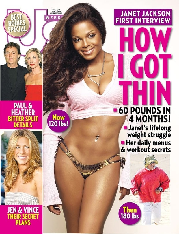 For years, Janet Jackson's story about losing weight reigned as the biggest-selling issue.
