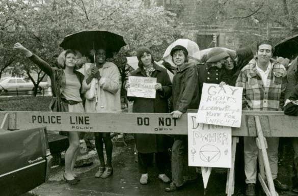 Sylvia Rivera and Marsha P. Johnson (left)