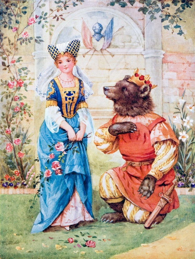 Here we see a ginger Belle and a bear that looks pretty darn adorable: