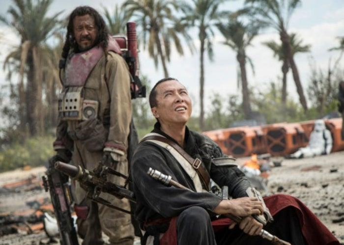 Wen Jiang played Baze Malbus and Donnie Yen played Chirrut Îmwe.