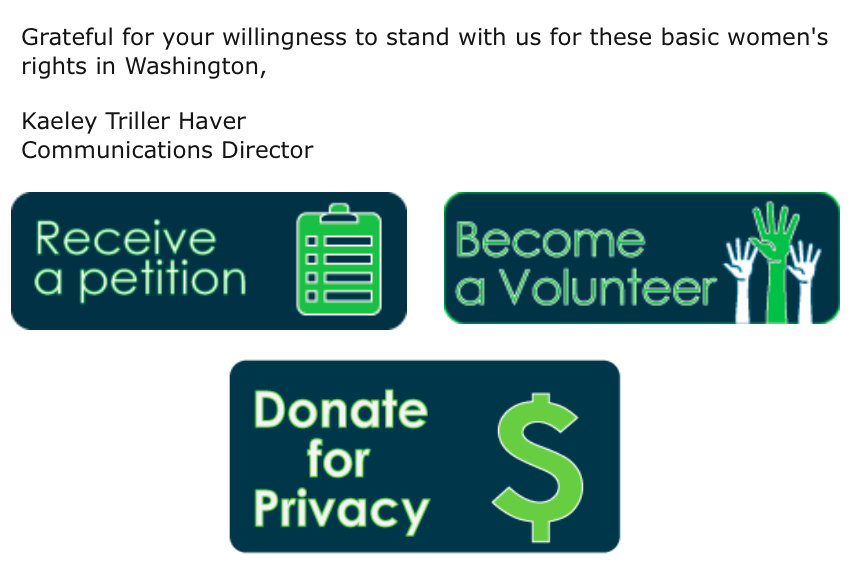 The campaign then used Herron's story to ask for volunteers and donations.