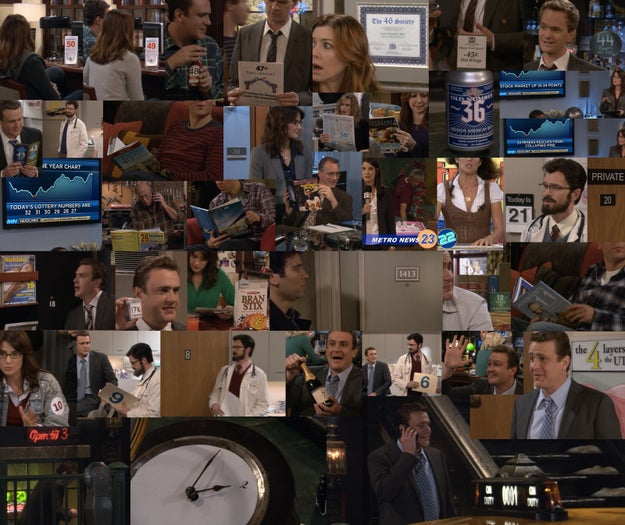 In the episode where Marshall's father dies, there is a hidden countdown throughout the episode that leads up to the news.