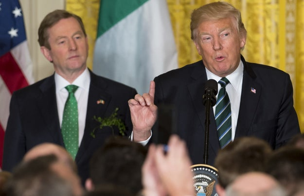 """Trump gave a speech praising the contributions of hardworking Irish-Americans to US prosperity and calling Ireland """"an ever-faithful partner and an always loyal friend."""""""