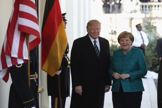 German Chancellor Angela Merkel visited the White House on Friday for her first face-to-face meeting with President Trump.
