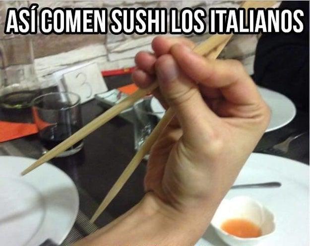 Comer sushi nivel Italia: