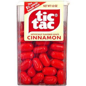 Cinnamon and spearmint Tic Tacs: