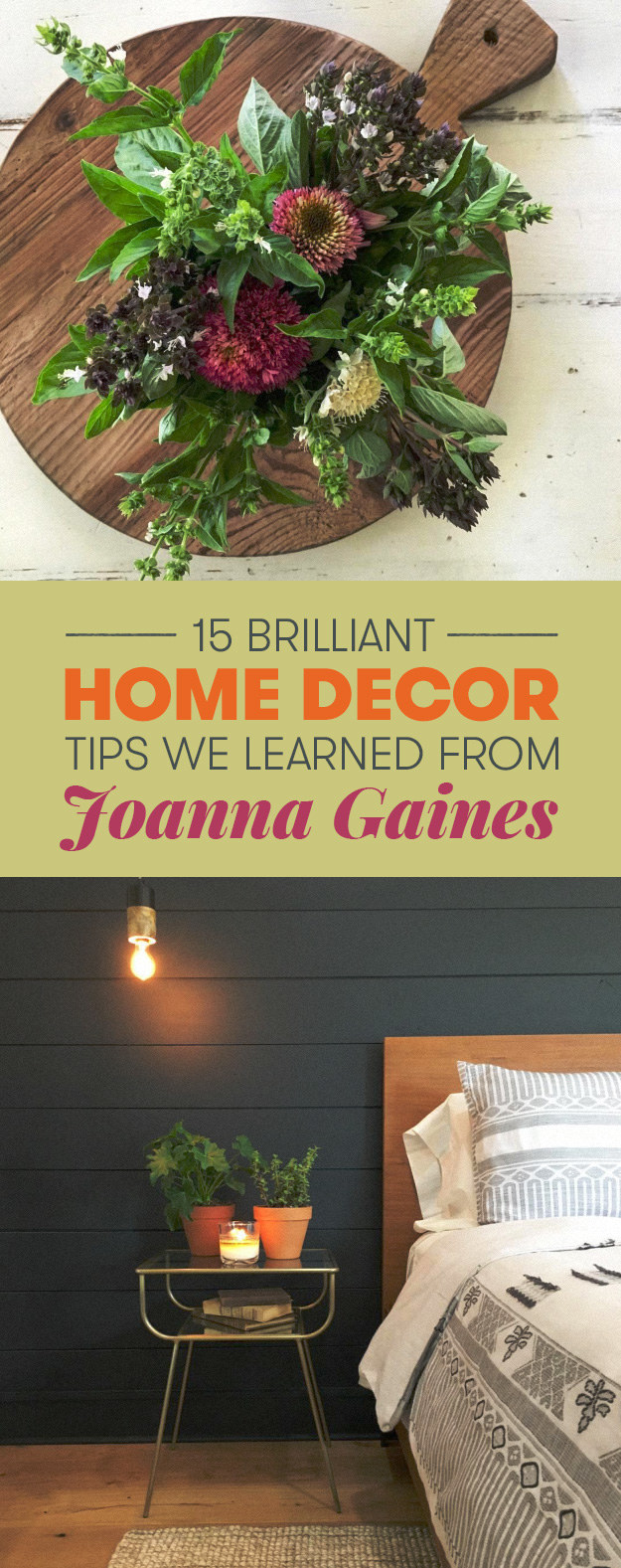 Joanna Gaines Tips For Decorating Living Rooms: 15 Home Decor Tips From Joanna Gaines That You'll Want To