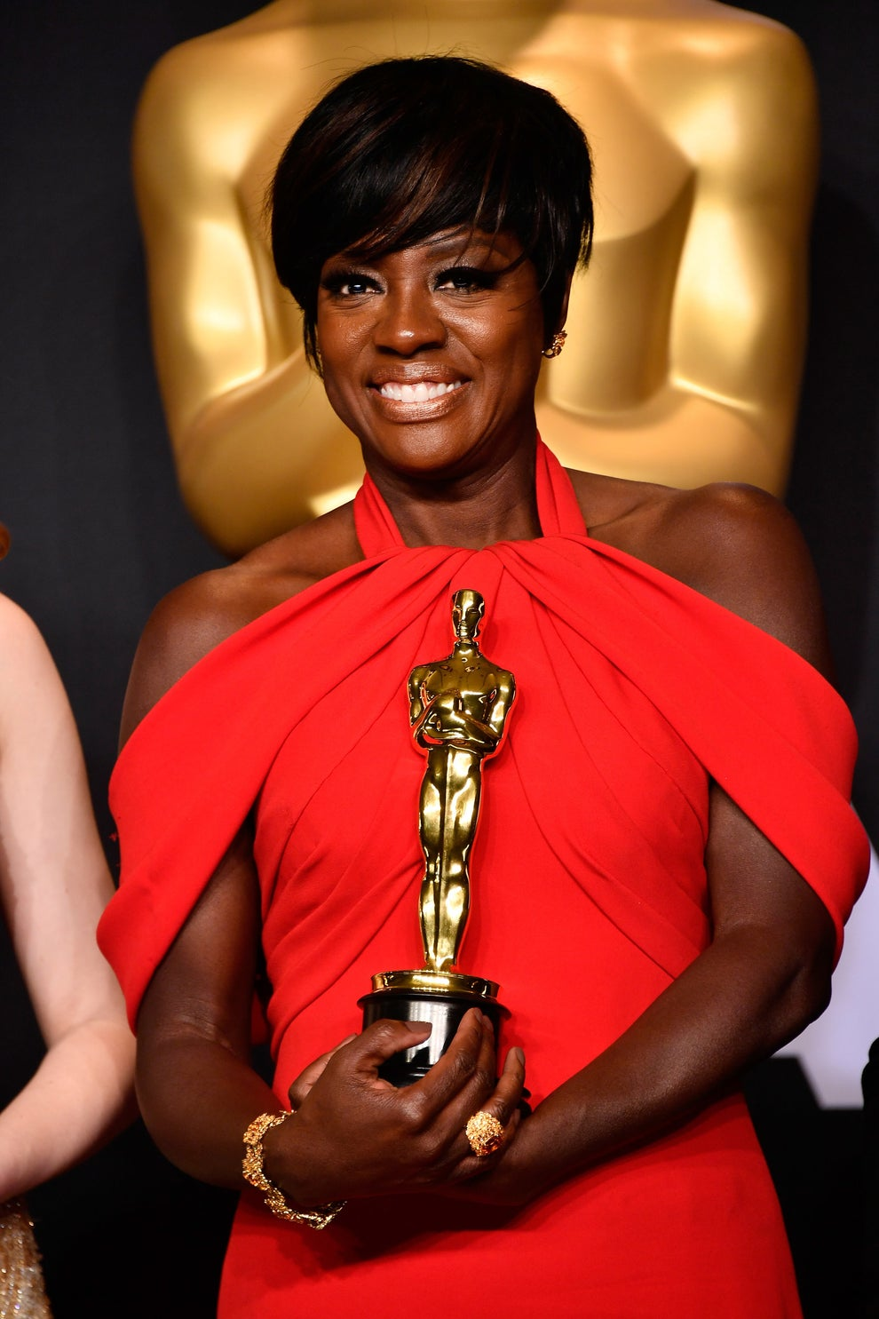 Viola Davis wins the 2017 Best Supporting Actress award for Fences. Frazer Harrison / Getty Images