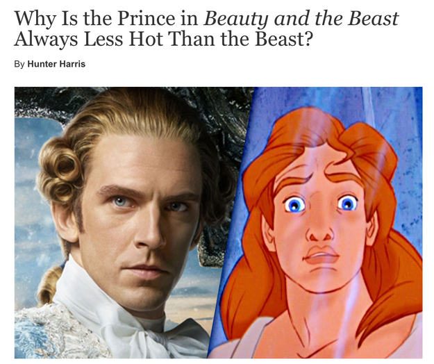 I'm sorry, but The Beast is just way hotter than The Prince.