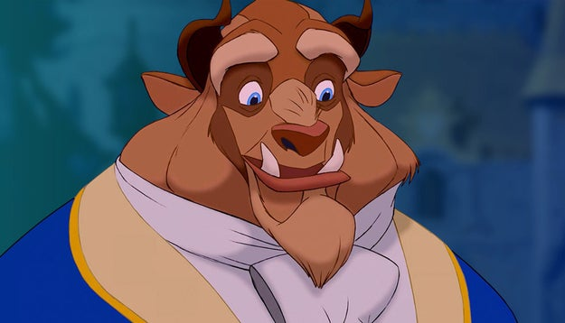 There's the classic animated Beast and his undeniably perfect baby blues.