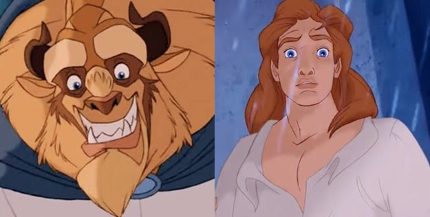 And there's no better candy than in Beauty and the Beast, aka that movie where one dude serves two very different looks.