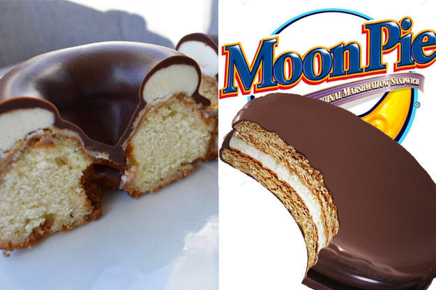 And this MoonPie donut looks so much like the original it's almost too gorgeous to look at...almost.
