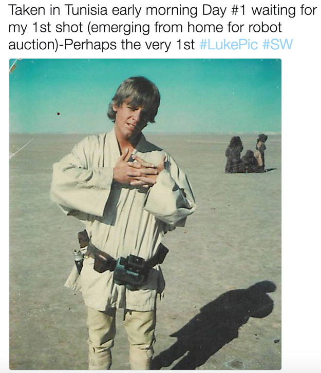 And he thinks it's likely the first photo ever taken of our own Luke.