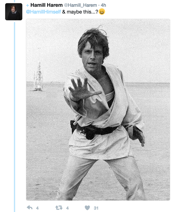 Fans responded to Hamill by sharing more photos from the set: