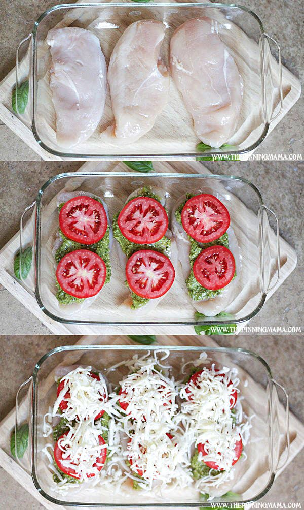 20 smart five ingredient dinner ideas chicken breasts pesto tomato shredded cheesecipe here forumfinder Images