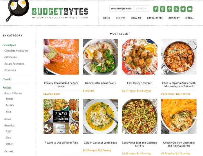 Beth, who's based in New Orleans, started the site in 2009 — and since then, has seen it grow to one of the top recipe blogs on the web. True to the site's name, each of her recipes includes an exact budget breakdown, down to the cost per plate.