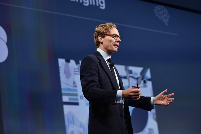 Alexander Nix, the CEO of Cambridge Analytica, speaks at a conference in September.
