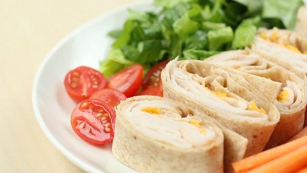 Lunch: Turkey And Cheddar Wrap