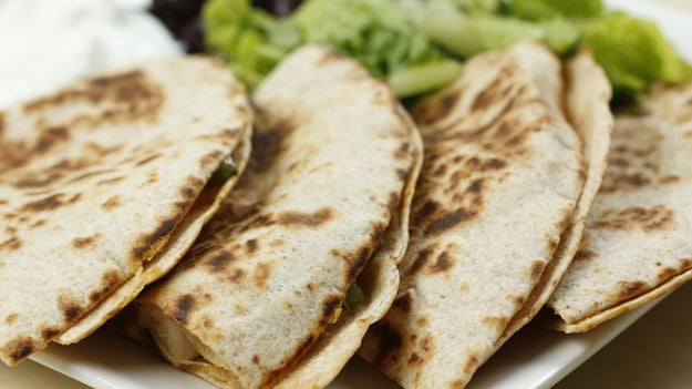 Dinner: Chicken And Veggie Quesadilla