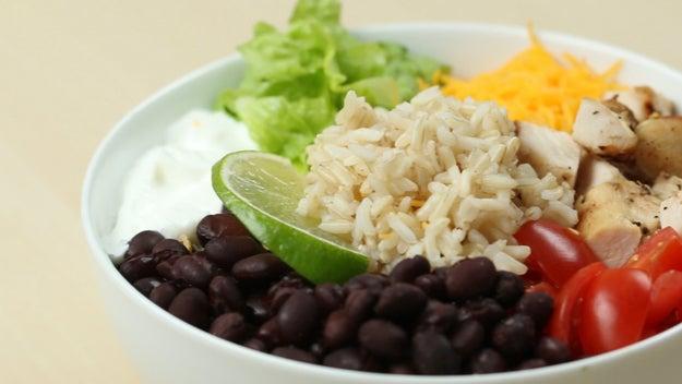 Dinner: Chicken Burrito Bowl