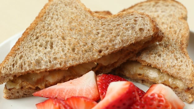 Lunch: Peanut Butter And Banana Sandwich