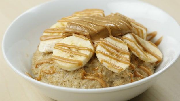 Breakfast: Banana Peanut Butter Oatmeal